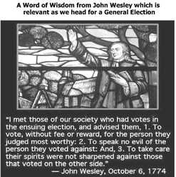 JOHN WESLEY RE ELECTION